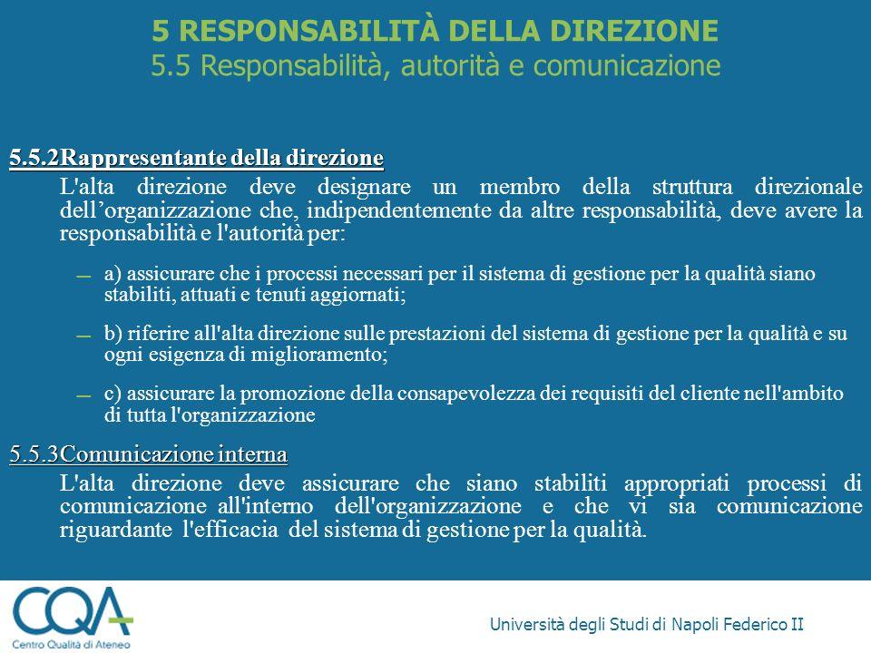 5 RESPONSABILITÀ DELLA DIREZIONE 5