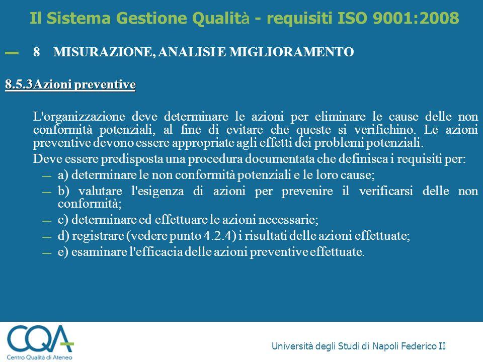 Il Sistema Gestione Qualità - requisiti ISO 9001:2008