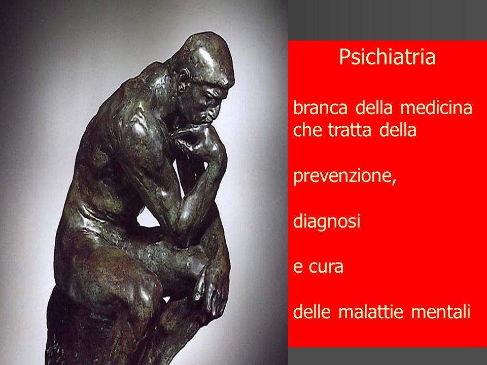 Psichiatria branca della medicina che tratta della prevenzione,