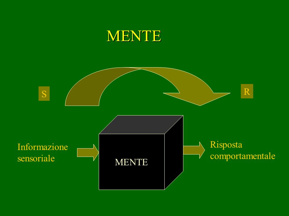 MENTE R S MENTE Risposta comportamentale Informazione sensoriale