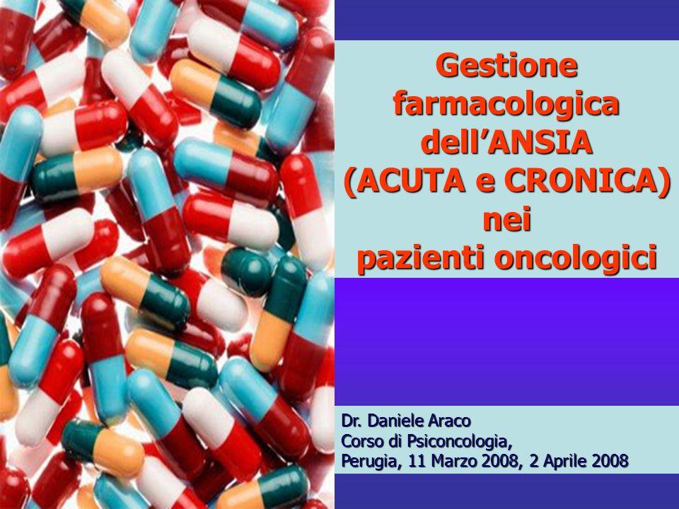 Gestione farmacologica dell'ANSIA