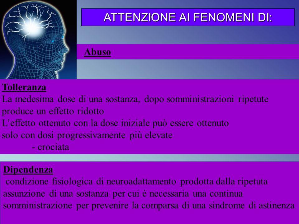 ATTENZIONE AI FENOMENI DI: