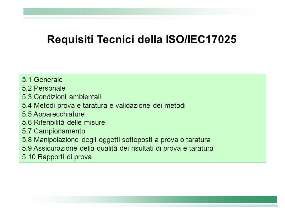 Requisiti Tecnici della ISO/IEC17025