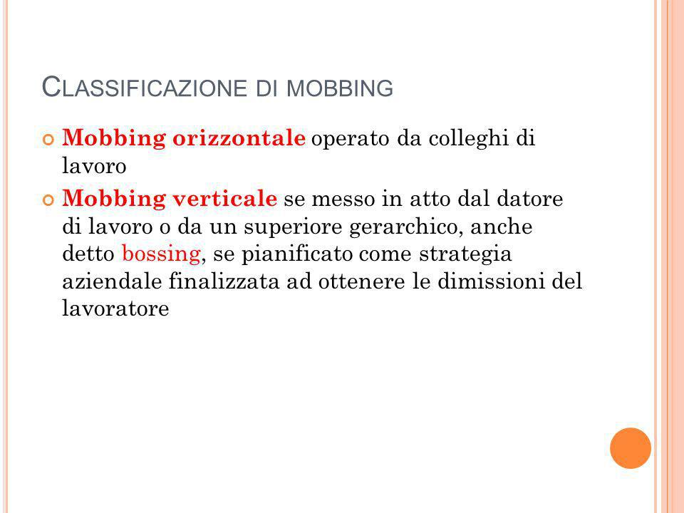 Classificazione di mobbing
