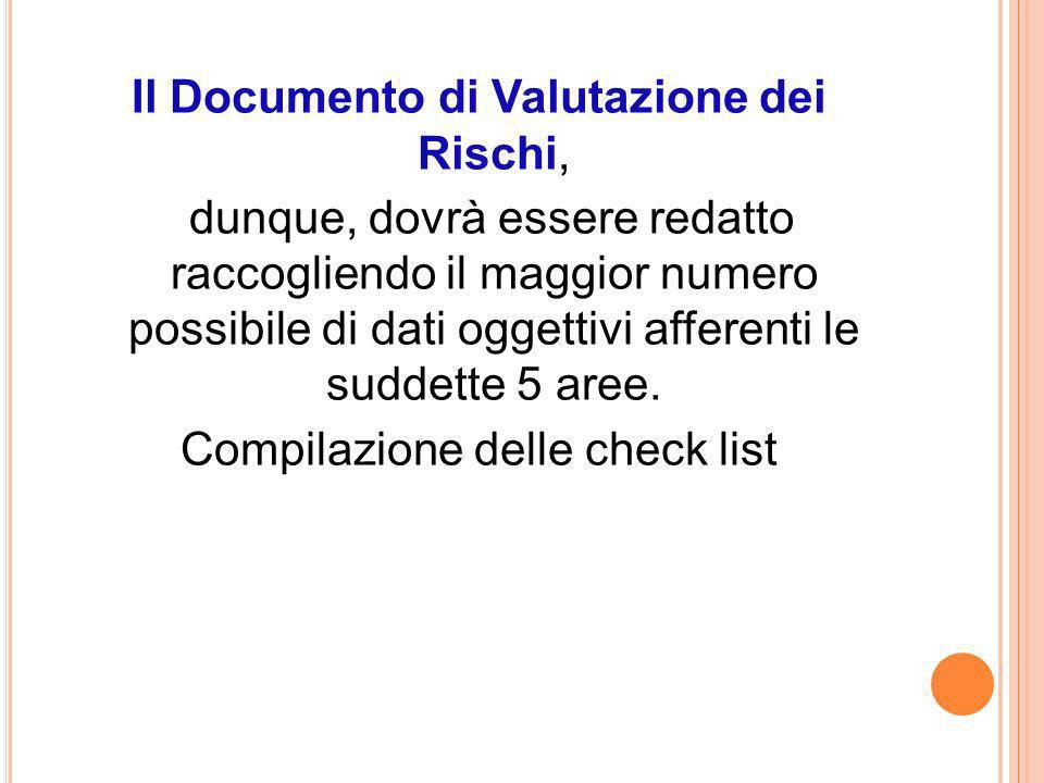 Il Documento di Valutazione dei Rischi,