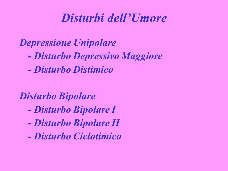 Disturbi dell'Umore Depressione Unipolare