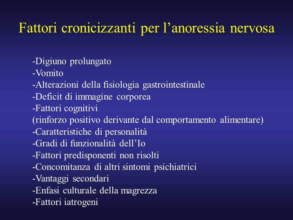 Fattori cronicizzanti per l'anoressia nervosa