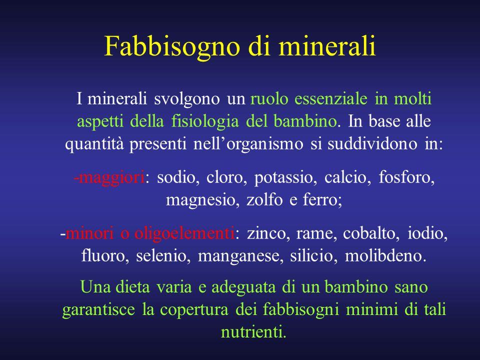 Fabbisogno di minerali