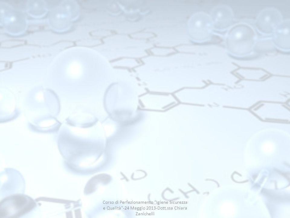 Corso di Perfezionamento Igiene Sicurezza e Qualità -24 Maggio 2013-Dott.ssa Chiara Zanichelli