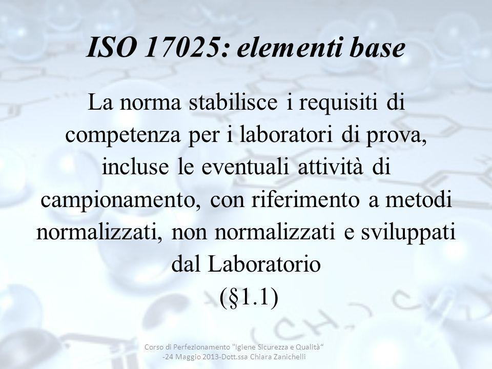 ISO 17025: elementi base