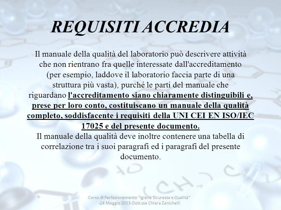 REQUISITI ACCREDIA