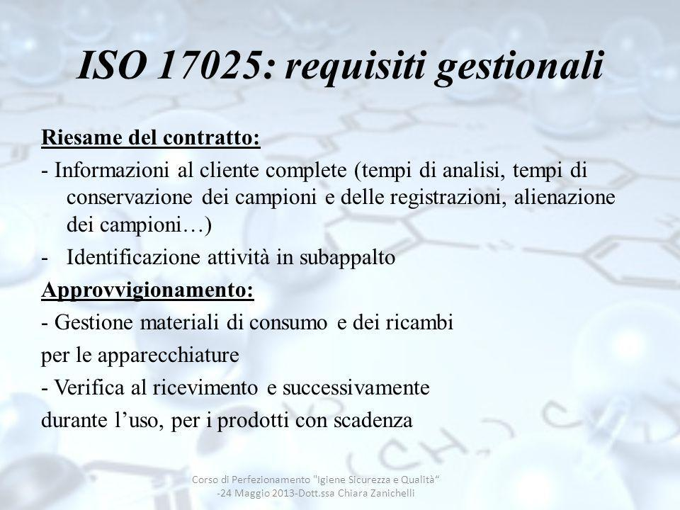 ISO 17025: requisiti gestionali