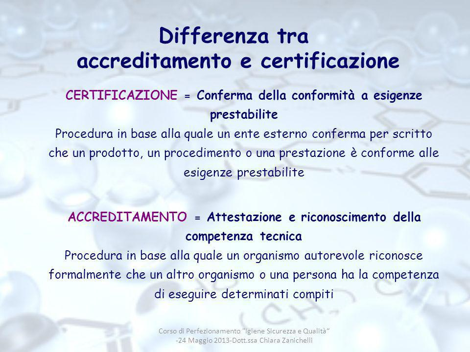 Differenza tra accreditamento e certificazione