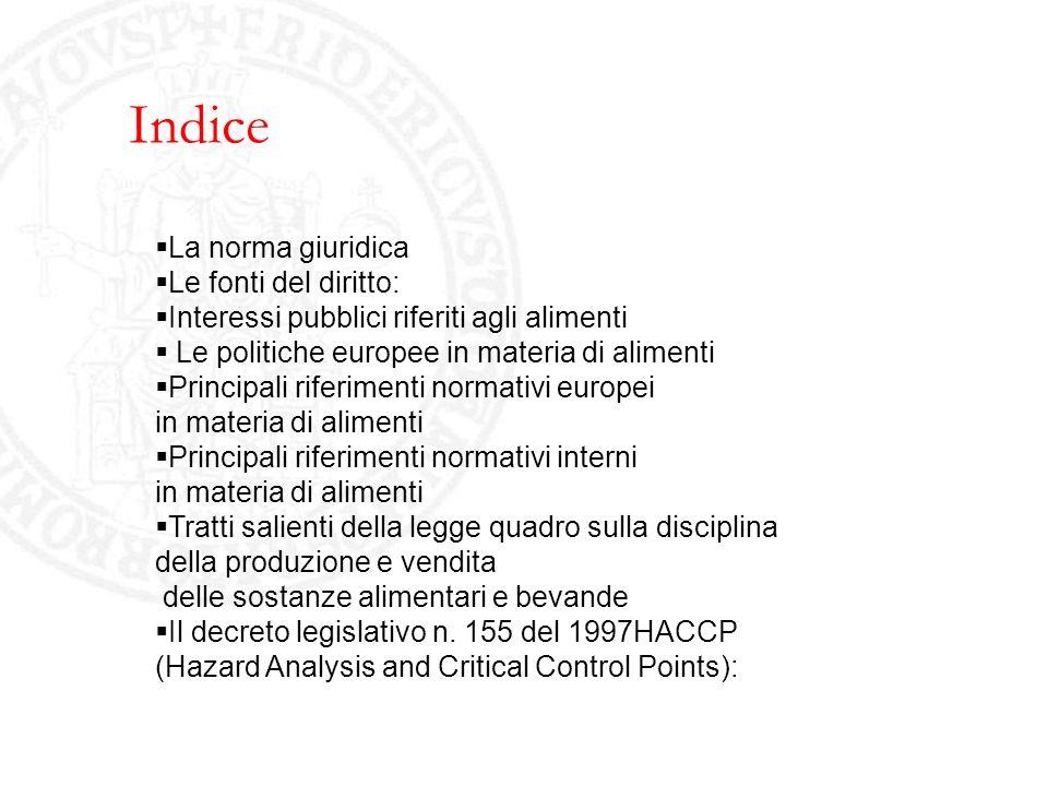 Indice La norma giuridica Le fonti del diritto: