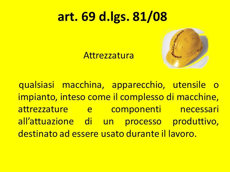 art. 69 d.lgs. 81/08