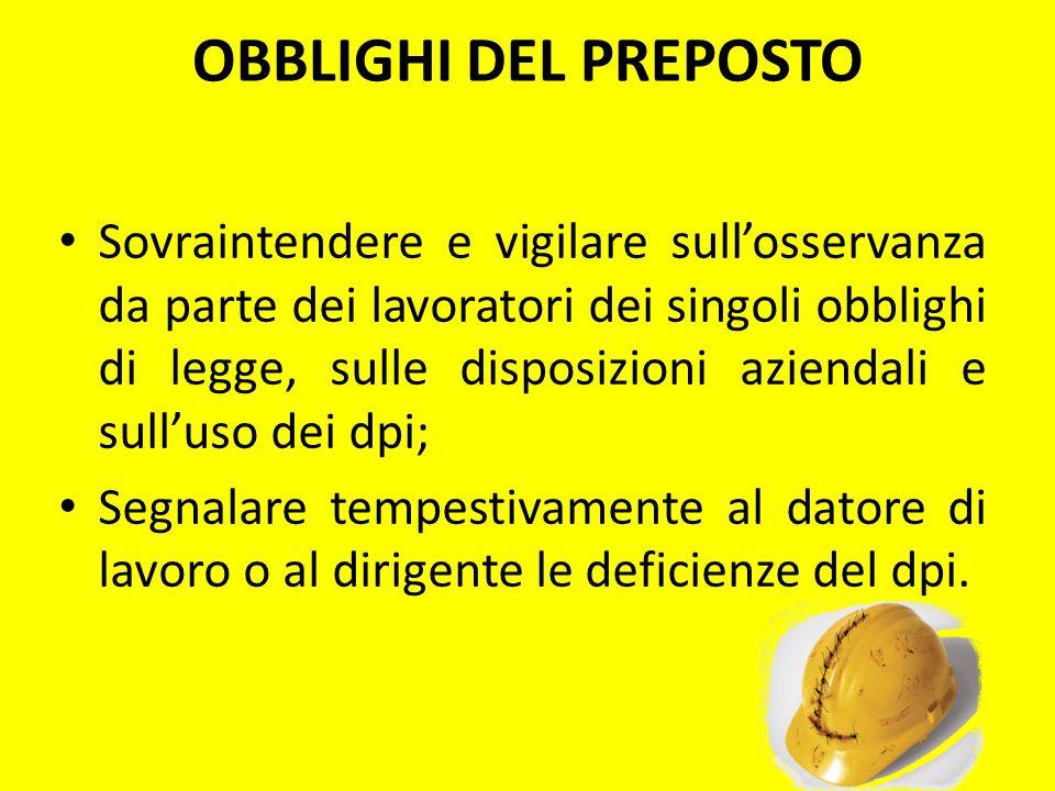 OBBLIGHI DEL PREPOSTO
