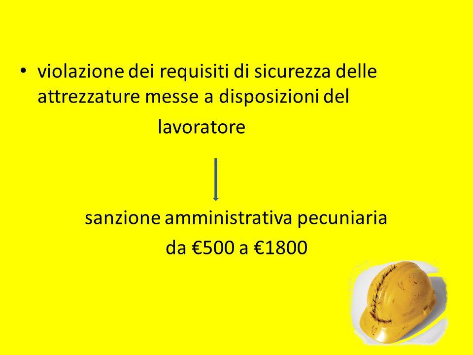 sanzione amministrativa pecuniaria