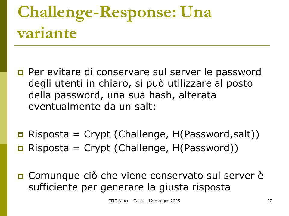 Challenge-Response: Una variante