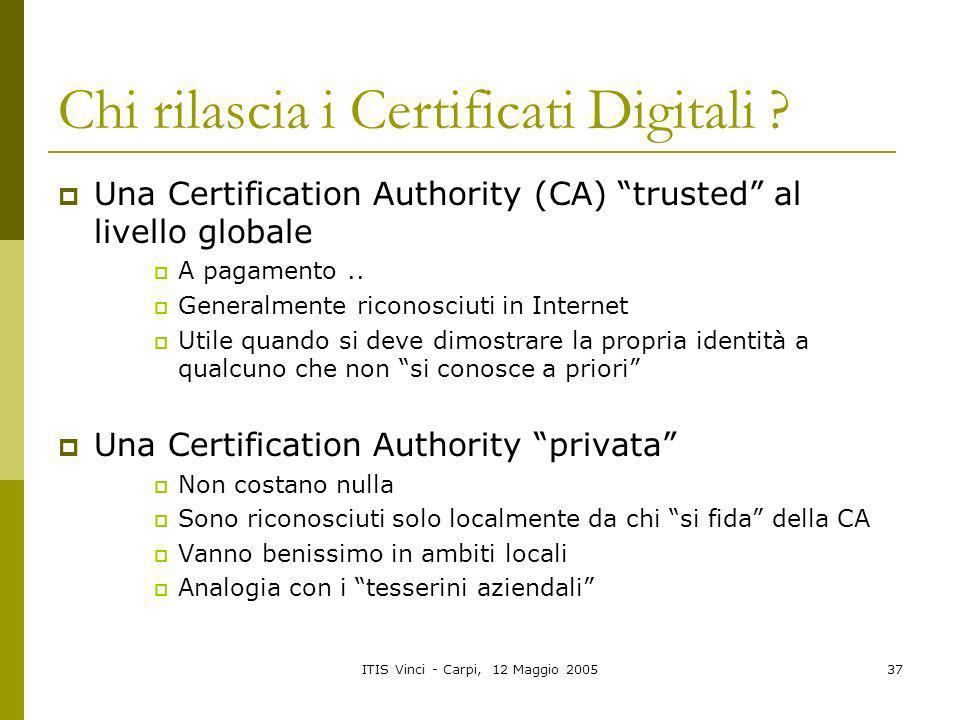 Chi rilascia i Certificati Digitali