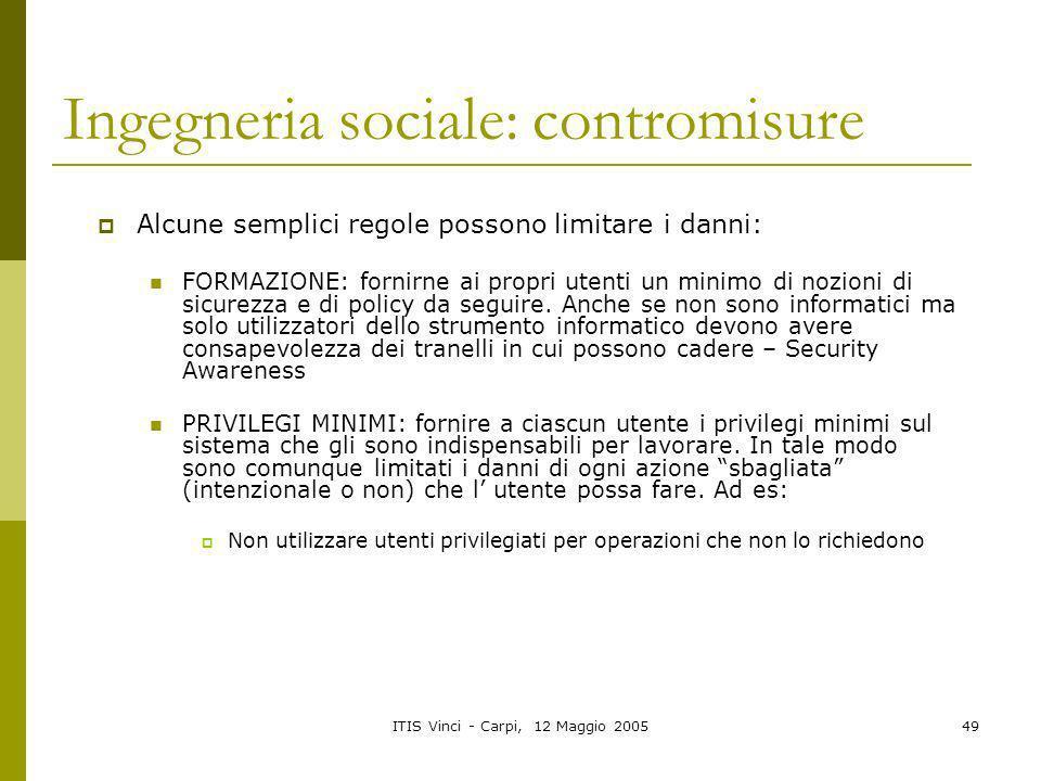 Ingegneria sociale: contromisure