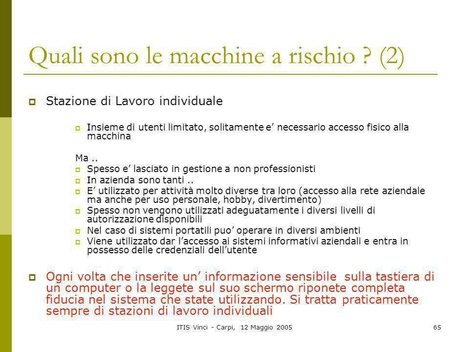 Quali sono le macchine a rischio (2)