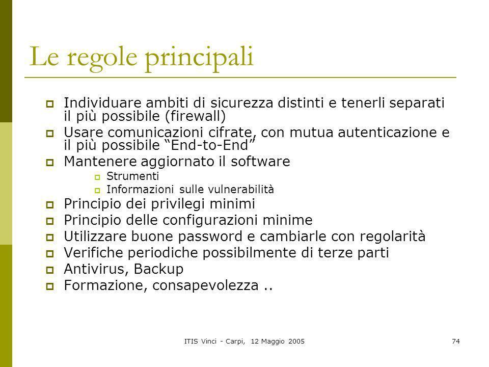 ITIS Vinci - Carpi, 12 Maggio 2005