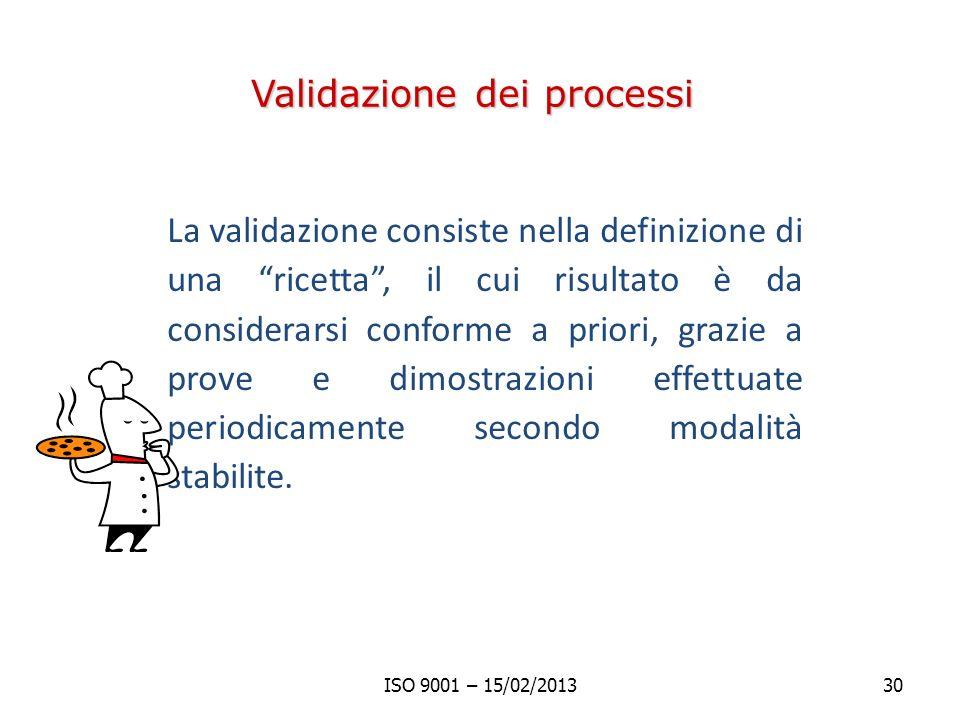 Validazione dei processi