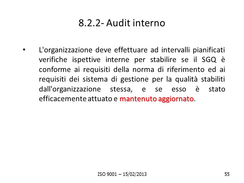 8.2.2- Audit interno