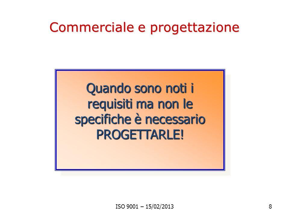 Commerciale e progettazione
