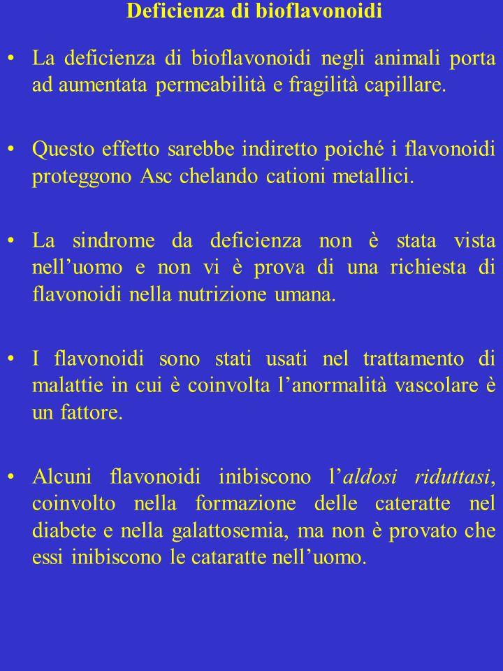 Deficienza di bioflavonoidi