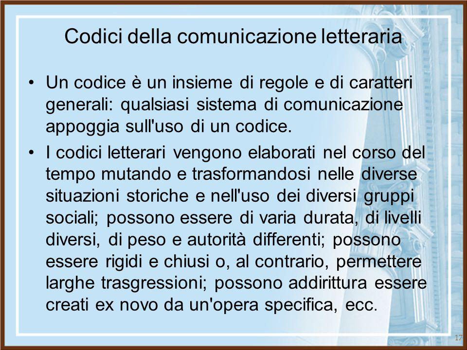 Codici della comunicazione letteraria