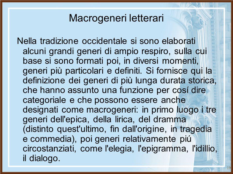 Macrogeneri letterari