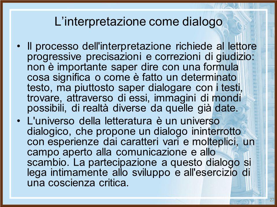 L'interpretazione come dialogo