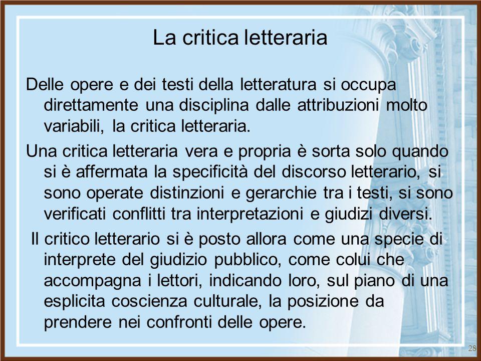 La critica letteraria