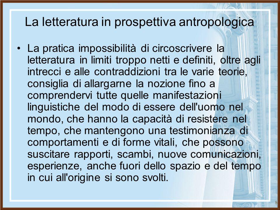 La letteratura in prospettiva antropologica