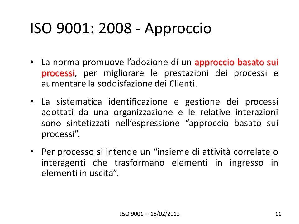 ISO 9001: 2008 - Approccio