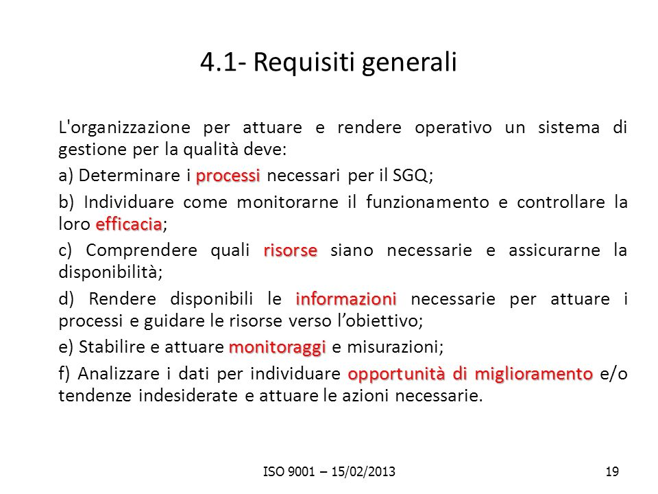 4.1- Requisiti generali