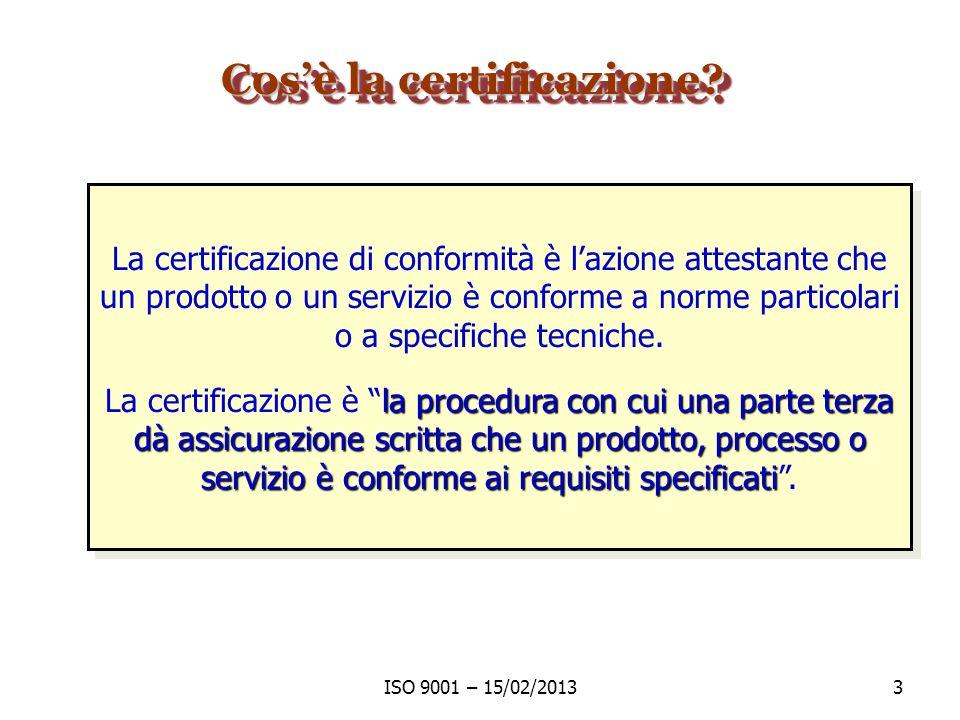 Cos'è la certificazione