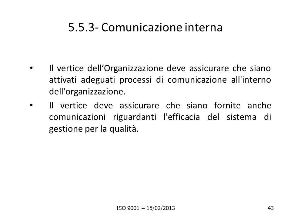5.5.3- Comunicazione interna