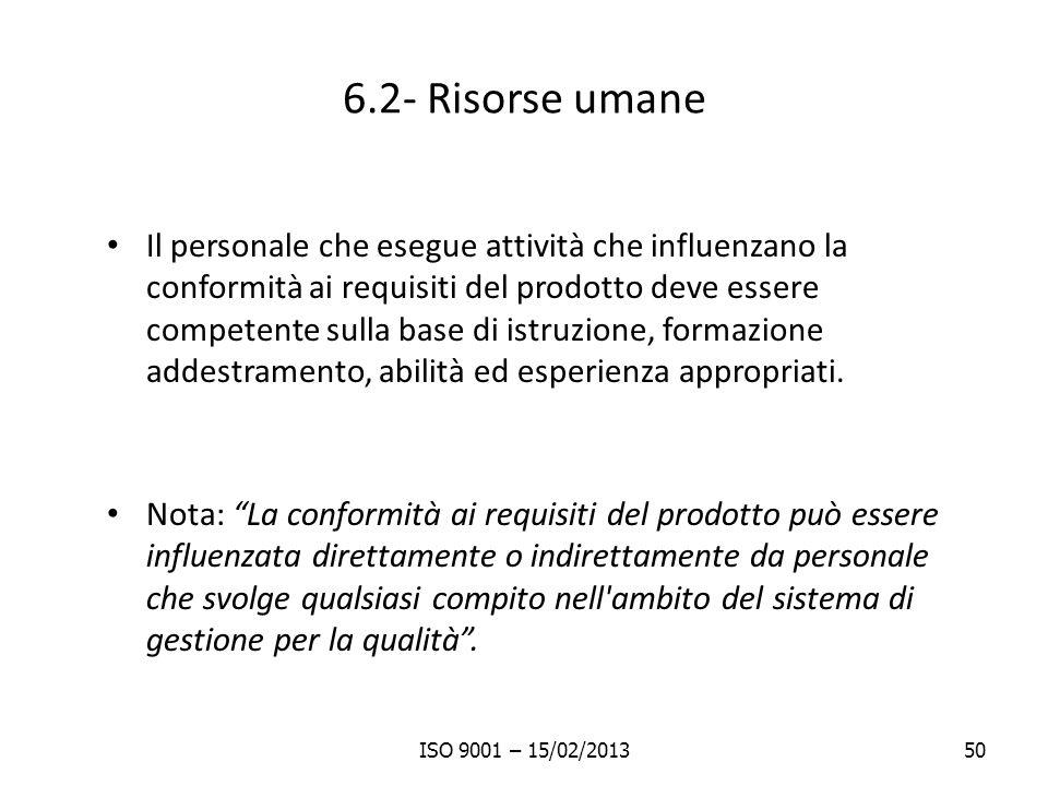 6.2- Risorse umane