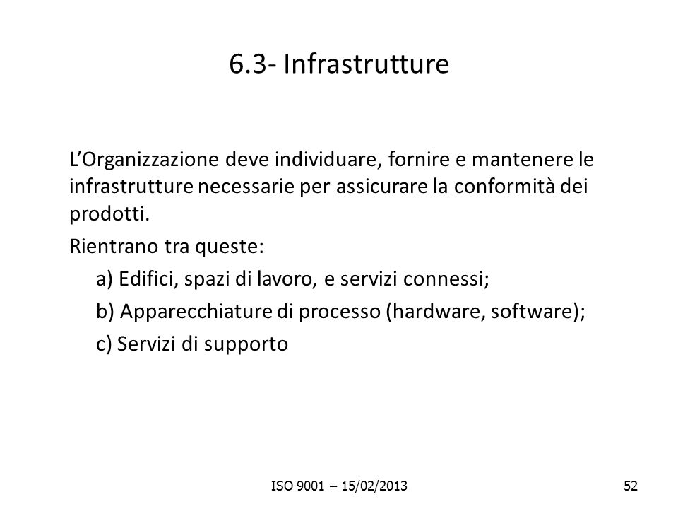 6.3- Infrastrutture