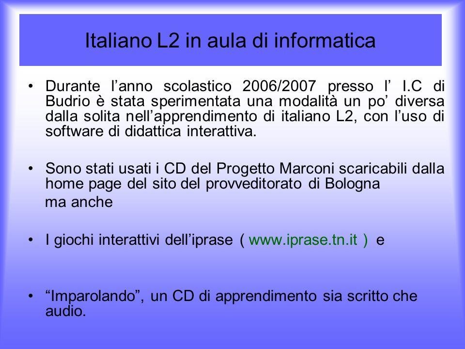 Italiano L2 in aula di informatica