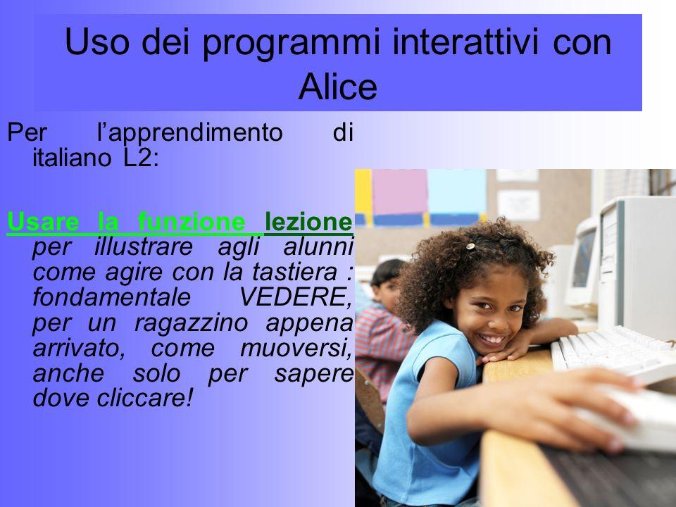 Uso dei programmi interattivi con Alice