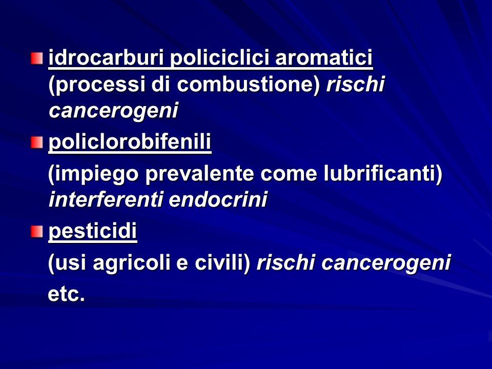 idrocarburi policiclici aromatici (processi di combustione) rischi cancerogeni