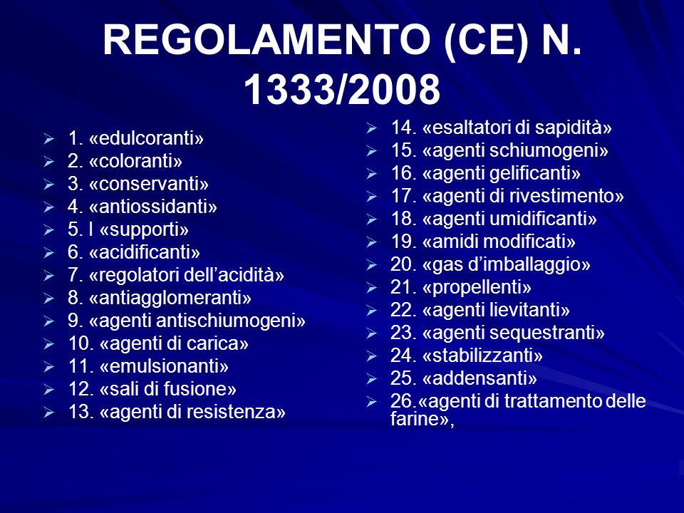 REGOLAMENTO (CE) N. 1333/2008 14. «esaltatori di sapidità»
