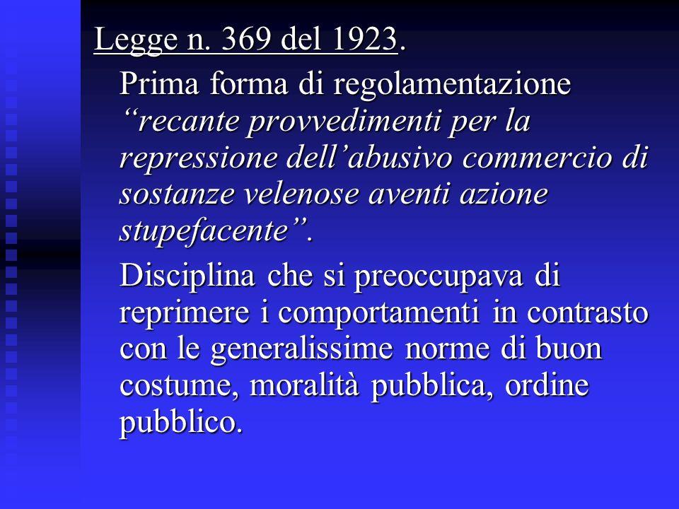 Legge n. 369 del 1923.