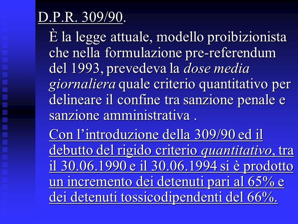 D.P.R. 309/90.