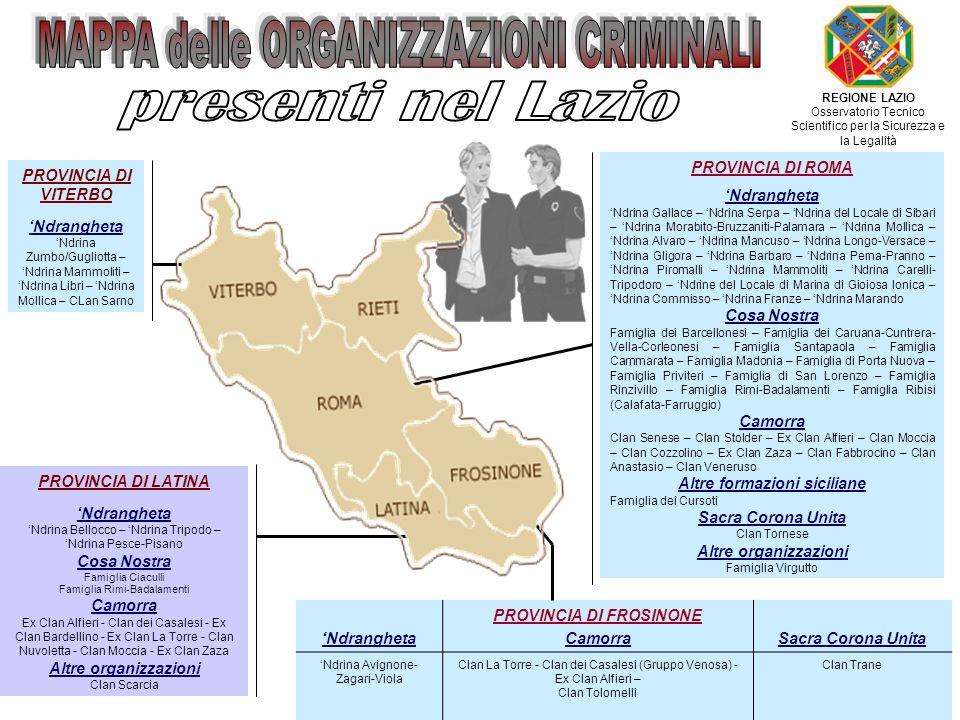 Altre formazioni siciliane PROVINCIA DI FROSINONE