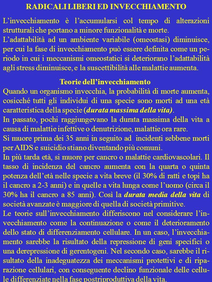 RADICALI LIBERI ED INVECCHIAMENTO
