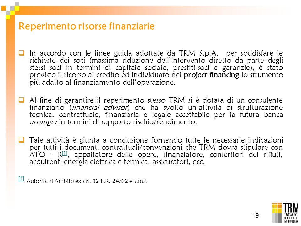 Reperimento risorse finanziarie